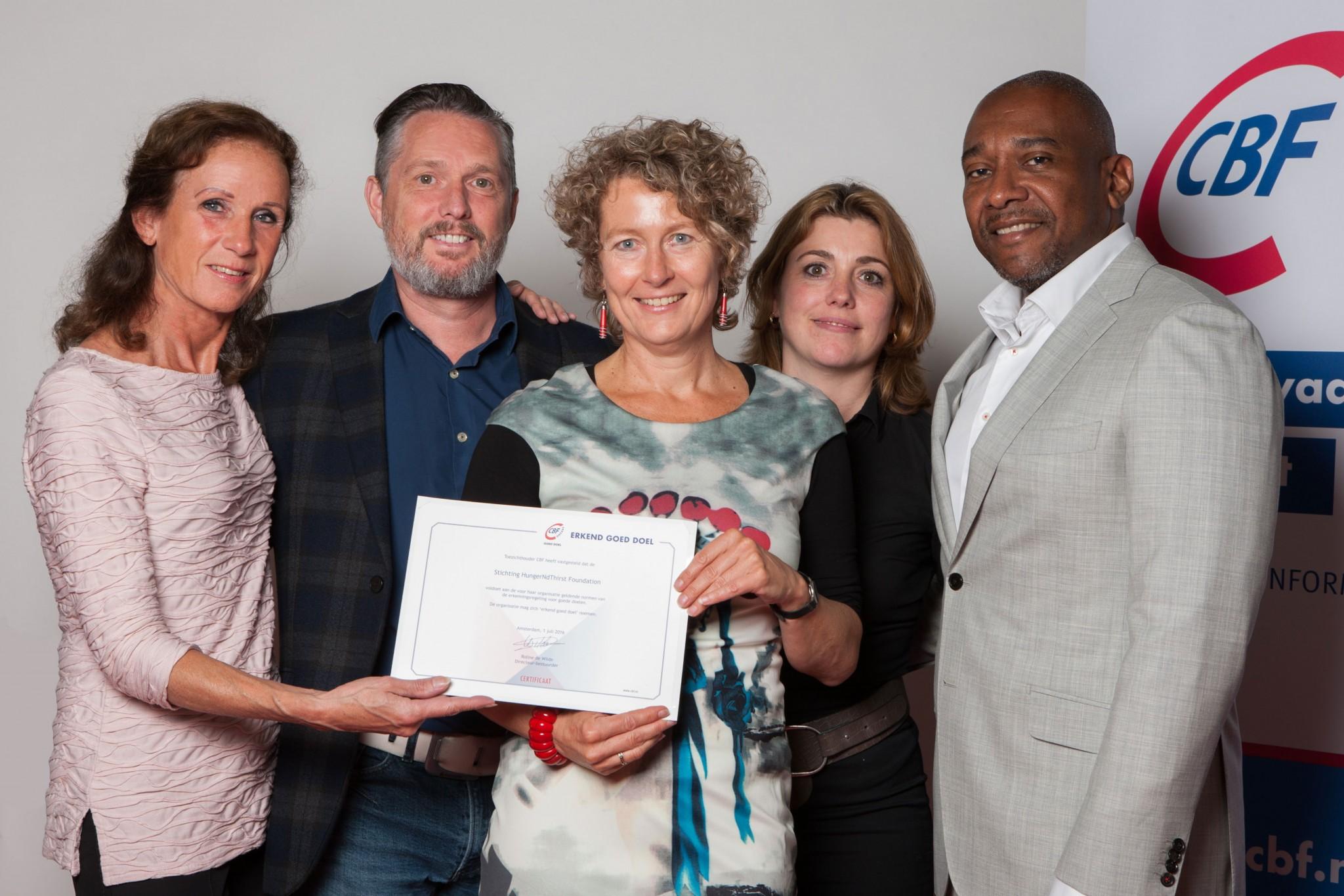 HungerNdThirst krijgt CBF-Erkenning