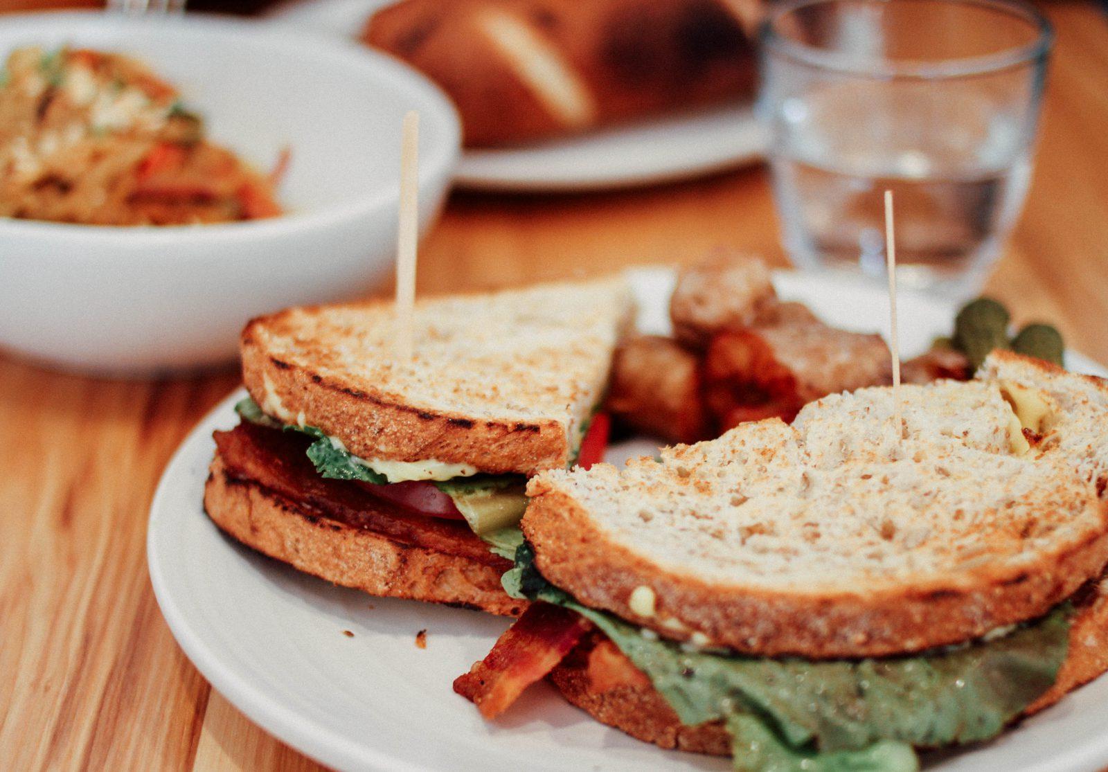 Foto met broodjes